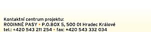 Rodinné pasy, P.O.BOX 5, 50001 Hradec Králové, tel.: +420 543 211 254 a +420 543 332 034