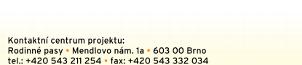 Rodinné pasy, Mendlovo nám. 1a, 603 00 Brno, tel.: +420 543 211 254 a +420 543 332 034